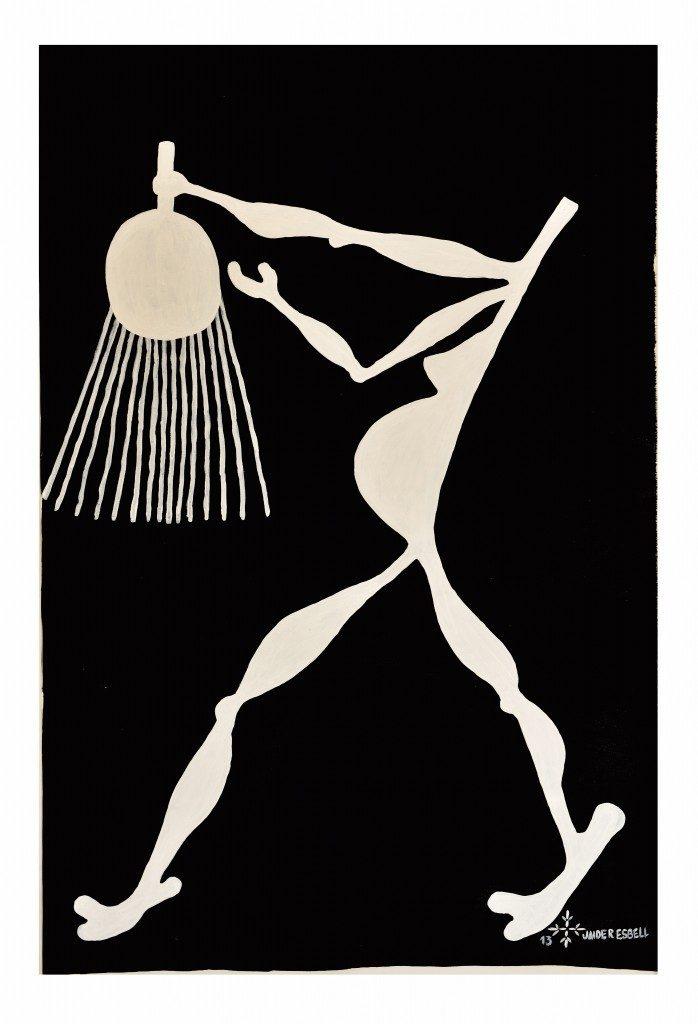 "Jaider Esbell, ""A Dimensão Humana"", 2013, 100 x 150 cm"