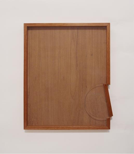 """Renata Lucas, """"Quadro Rotonda"""", 2006-2011, edição 3/3, 54 x 43 x 3,5 cm"""
