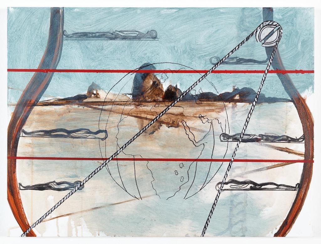 """""""Estrangeiro I"""" 2017, acrílica sobre tela [acrylic on canvas], 60 x 80 cm (1)"""