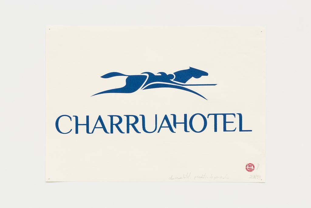 """Charruá hotel"", 2015-2016, serigrafia sobre papel, 29,7 x 42 cm"