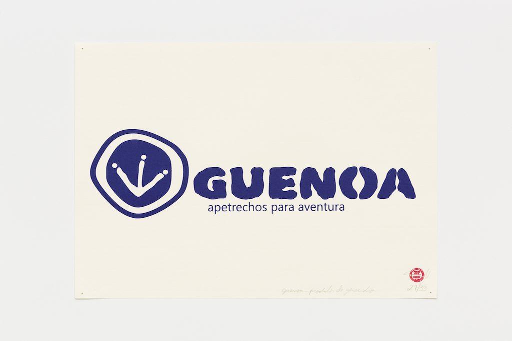 """""""Guenoa"""", 2015-2016, serigrafia sobre papel, 29,7 x 42 cm"""