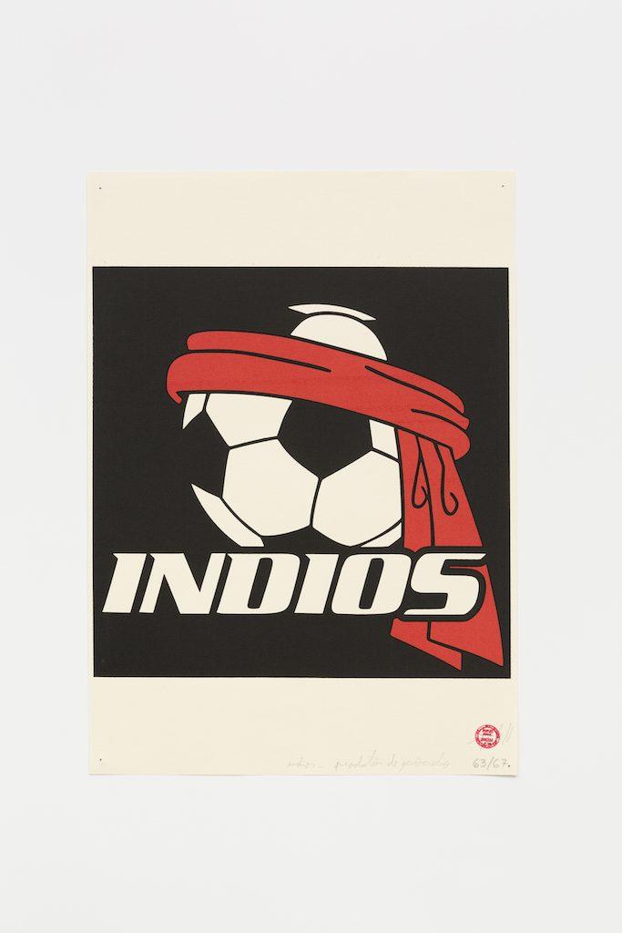 """""""Índio"""", 2015-2016, serigrafia sobre papel, 42 x 29,7 cm"""