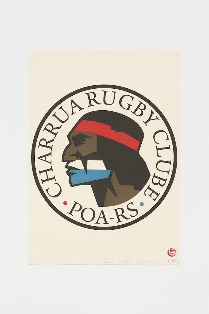 """Charruá Rugbi Clube"", 2015-2016, serigrafia sobre papel, 42 x 29,7 cm"
