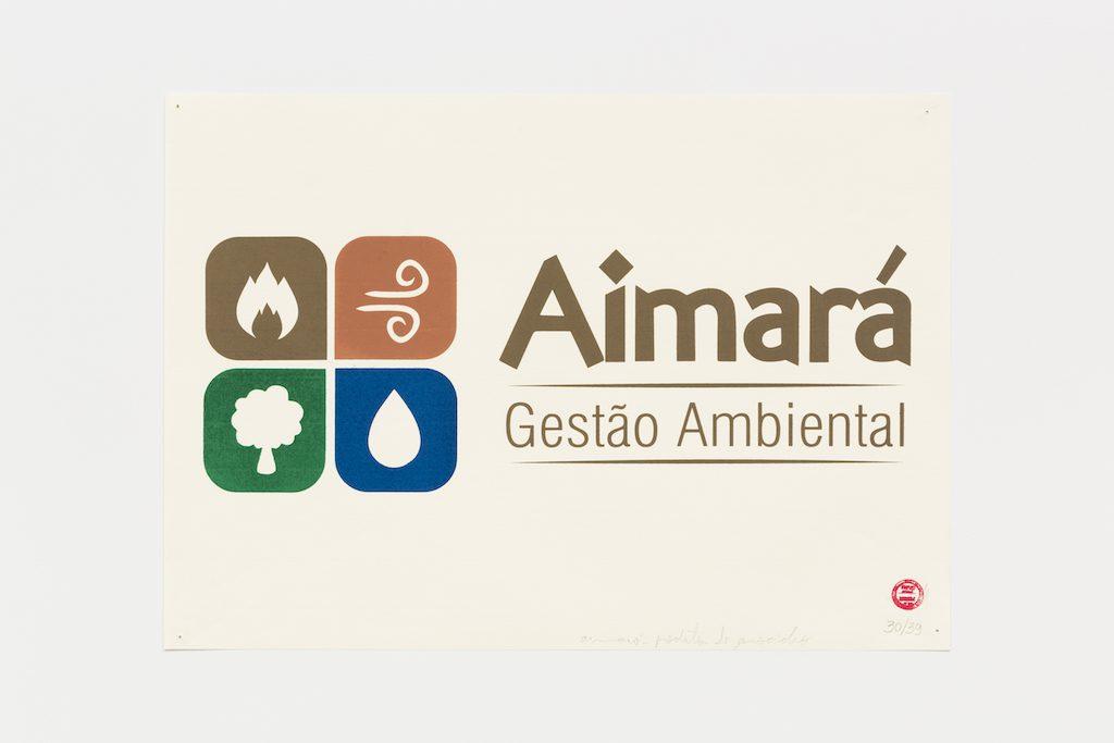 """""""Aimará gestão ambiental"""", 2015-2016, serigrafia sobre papel, 29,7 x 42 cm"""