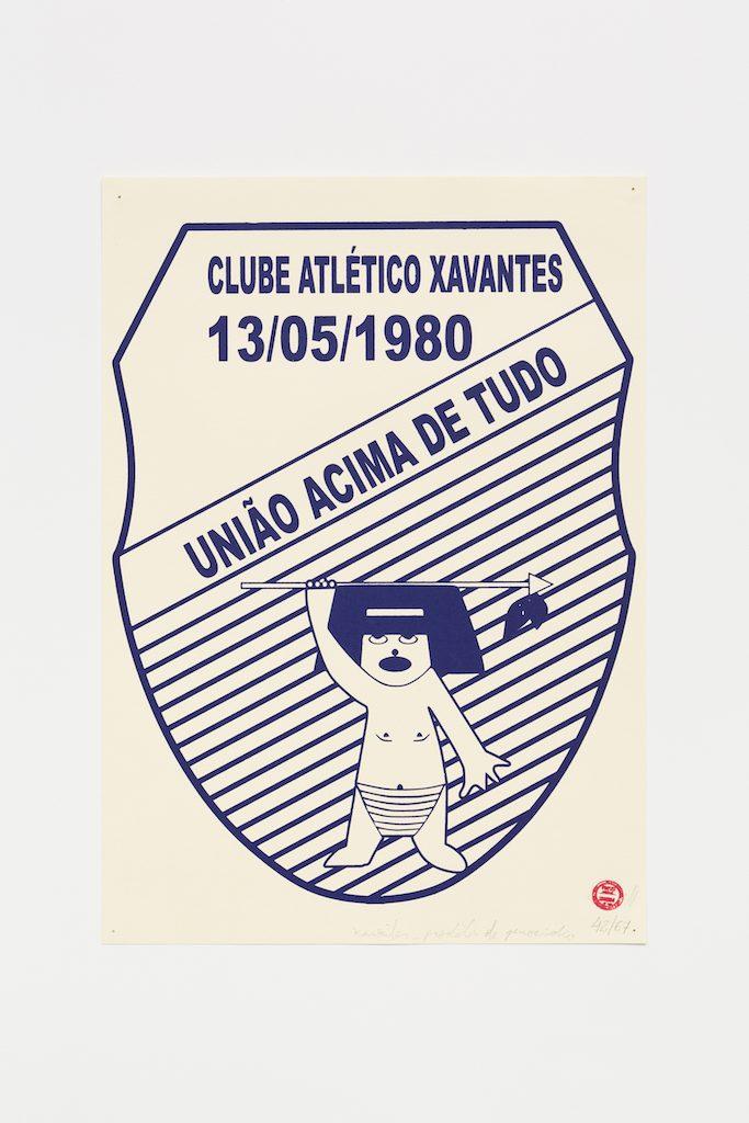 """Clube Atlético Xavantes"", 2015-2016, serigrafia sobre papel, 29,7 x 42 cm"