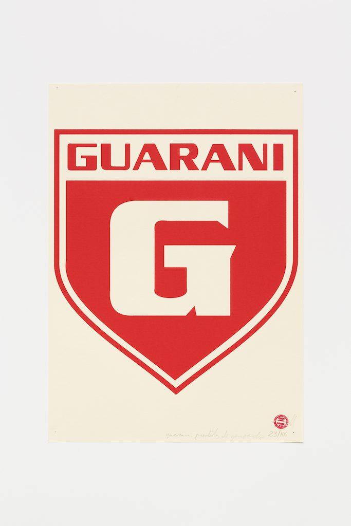 """""""Guarani de Divinópolis"""", 2015-2016, serigrafia sobre papel, 42 x 29,7 cm"""
