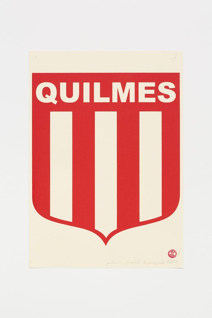 """""""Quilmes"""", 2015-2016, serigrafia sobre papel, 42 x 29,7 cm"""