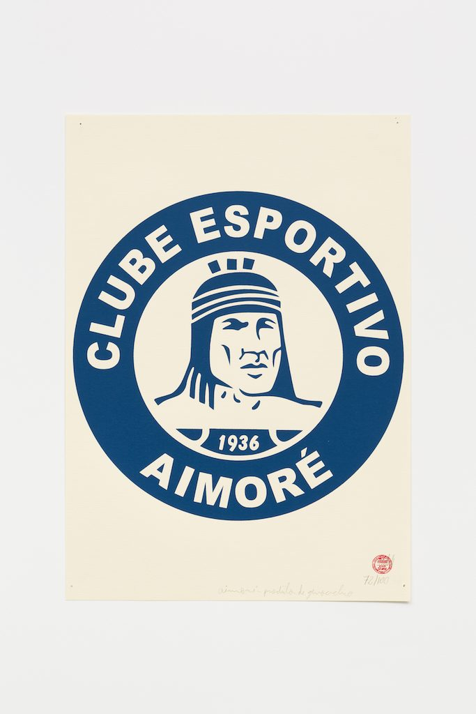 """Clube Esportivo Aimoré"", 2015-2016, serigrafia sobre papel, 42 x 29,7 cm"