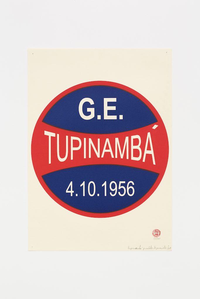 """""""G.E. Tupinambá"""", 2015-2016, serigrafia sobre papel, 42 x 29,7 cm"""