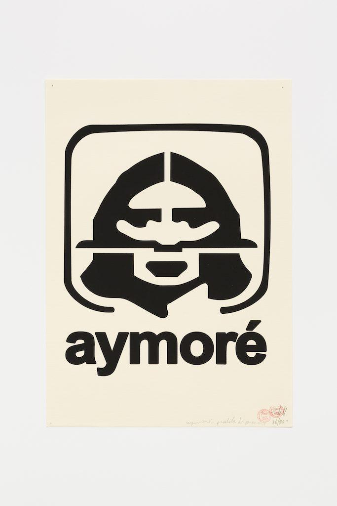 """Aymoré preto"", 2015-2016, serigrafia sobre papel, 42 x 29,7 cm"