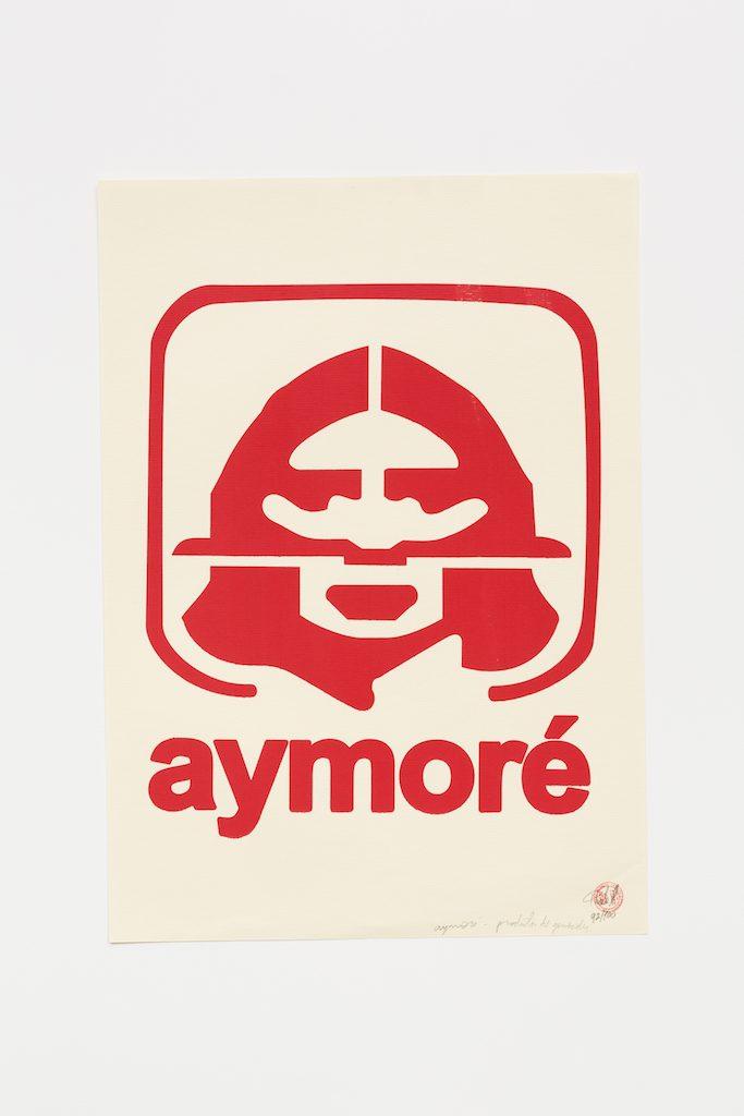"""""""Aymoré vermelho"""", 2015-2016, serigrafia sobre papel, 42 x 29,7 cm"""
