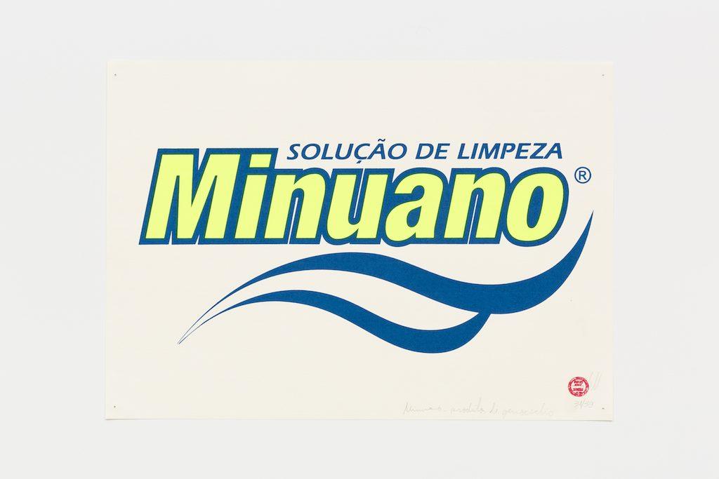 """""""Solução de Limpeza Minuano"""", 2015-2016, serigrafia sobre papel, 29,7 x 42 cm"""