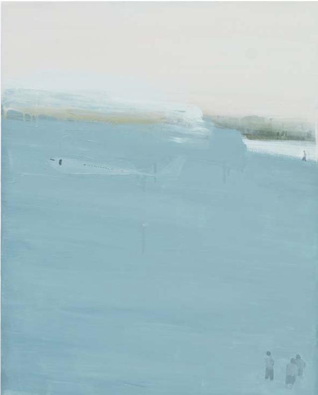 """Tatiana Blass, """"Acidente #10"""", 2011, óleo sobre tela, 100 x 80 cm"""