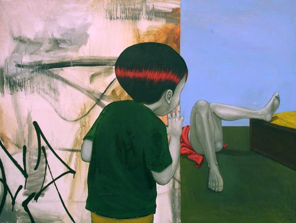 "Tinho, ""Prazeres"", 2011, oil on canvas, 90 x 120 cm"