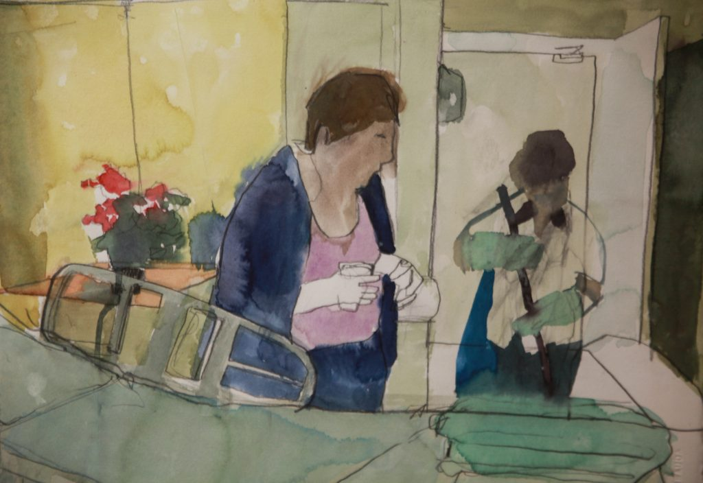 """Horario de Visitação"", 2011, oil on canvas, private loan, 32x41 cm"