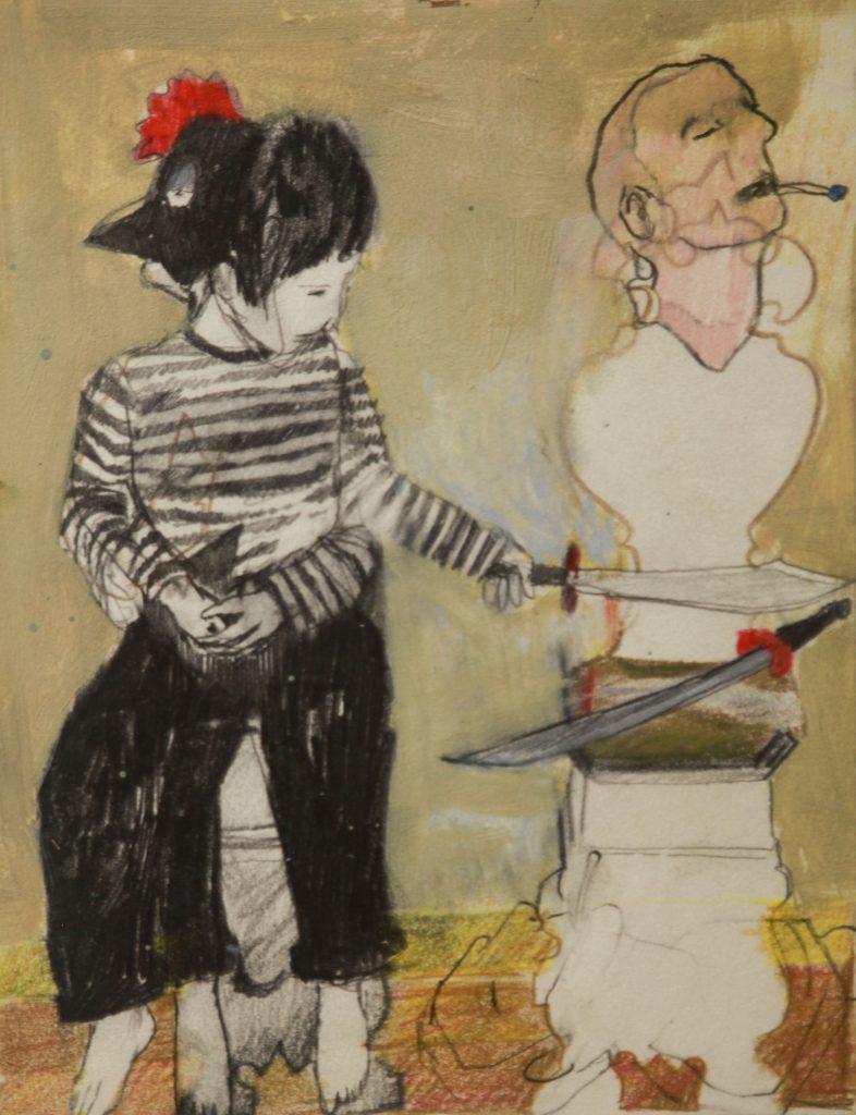 """Horario de Visitação"", 2011, oil on canvas, private loan, 25x19 cm"